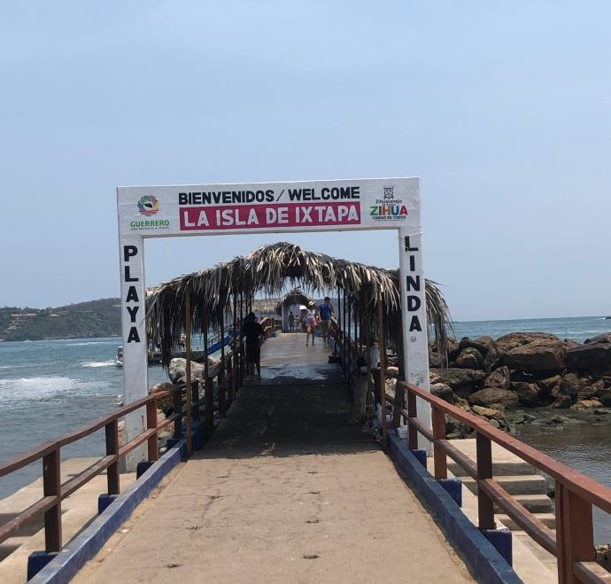 entrance to boat taxi area, Ixtapa